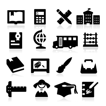 writing instruments: Education Icons two