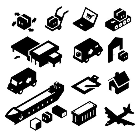 Shipping Icons two Vector
