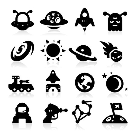 Space Icons two Stock Vector - 23863791