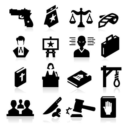 derecho penal: Derecho Icons Vectores