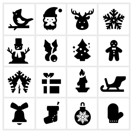 Christmas icon three Vector