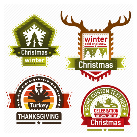 Holidays badges  Vector