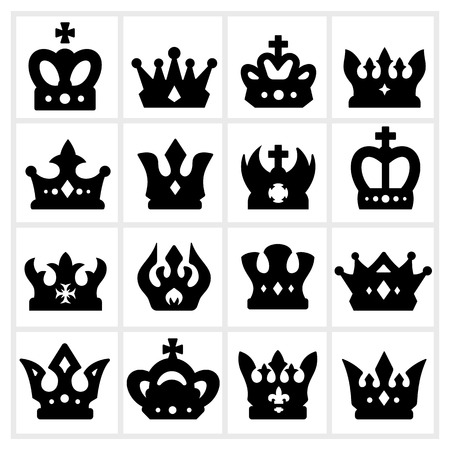 Crowns Icons Stock Vector - 24591488