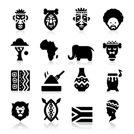 animal masks: African Icons Illustration