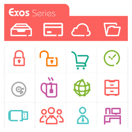 Web Icons - Exos Series Illustration