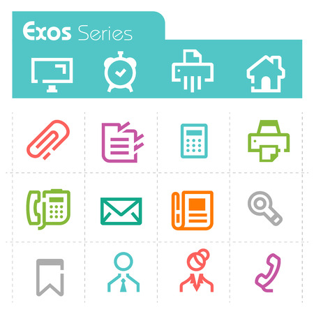 managment: office Icons - Exos Series