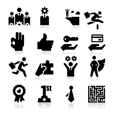 biznes: Ikony Biznesu Ilustracja