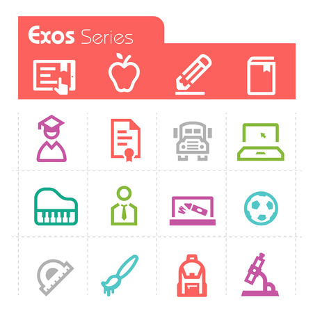 Education Icons Exos Series Vector