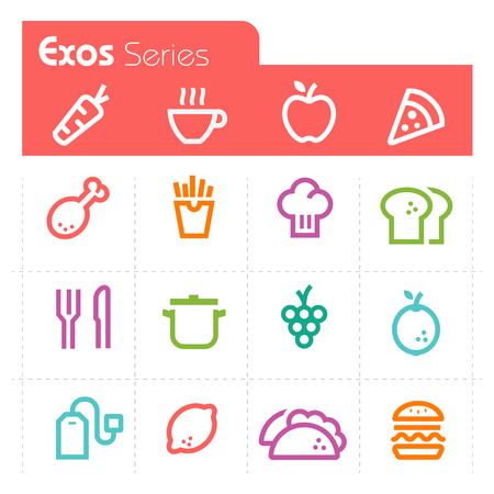 Food Icons Exos Series Vector