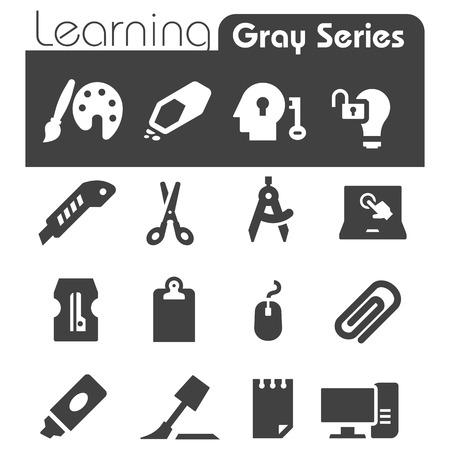 correttore: Imparare Icone Grigio Series