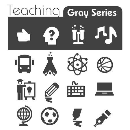 teaching music: Teaching  Icons Gray Series Illustration