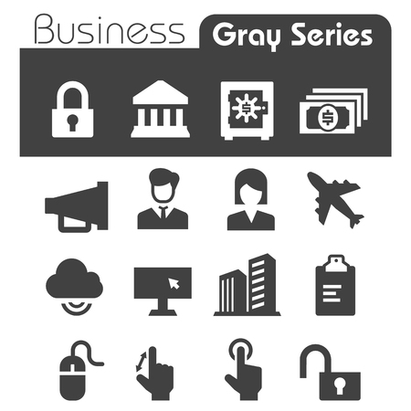 Business Icons Gray Series Vector