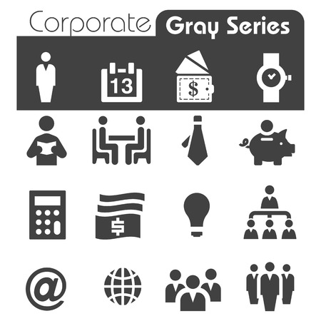 person reading: Corporate Icons Gray Series Illustration