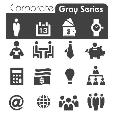 seres humanos: Iconos Corporativos Gray Series Vectores