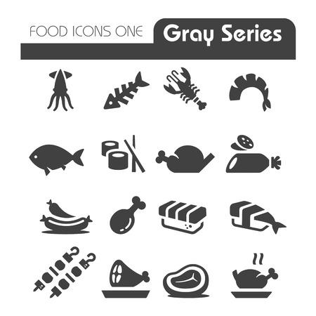 Vlees Pictogrammen Gray Series