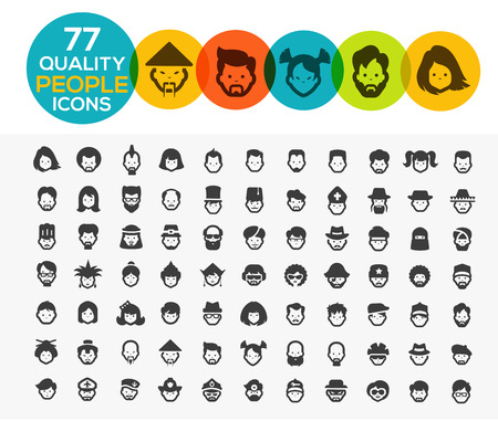 persons: 77 high quality pople Icons