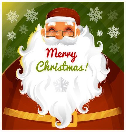 Weihnachtsmann Vector Zeichen eps 10 Illustration