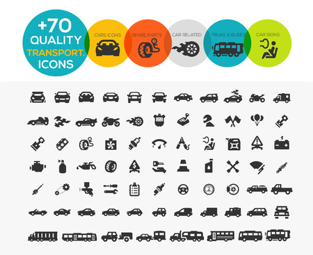 transportation: 74 Transport Icônes Extreme Series Illustration