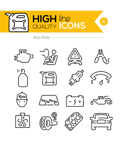 airbag: Auto Parts line Icon