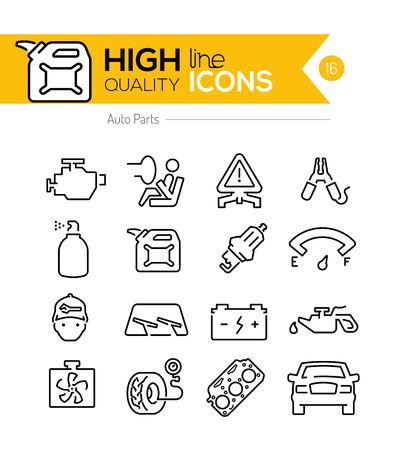 Auto Parts line Icon
