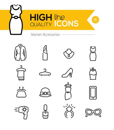 Mujeres Accesorios línea de la serie de iconos
