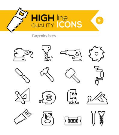Timmerwerk Line Icons