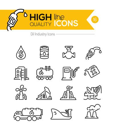 surtidor de gasolina: Aceite de línea Iconos