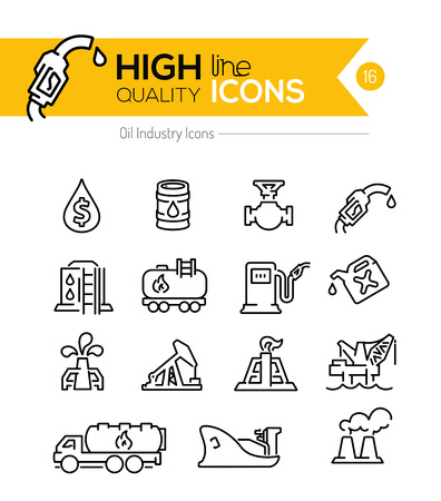 gas icon: Oil Line Icons