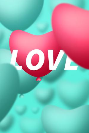heart shape balloons