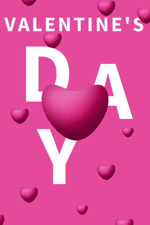 valentine day's heart shape balloons background