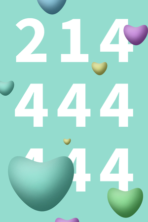214 Valentine's Day heart shape balloons background Imagens