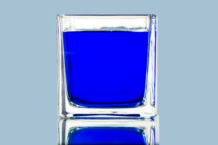 Colorful water cup in still life