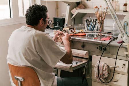 Workshop of a dental technician Archivio Fotografico