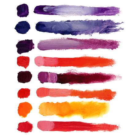 oil: Vector Colorful volumetric brush strokes, oil, acrylic, beautiful texture