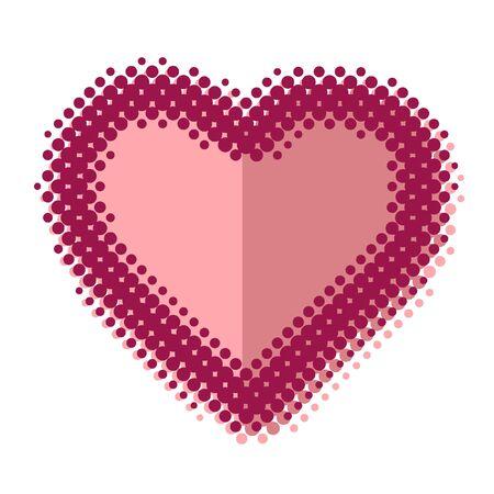 valentijn hart: Valentijn hart plat ontwerp vector illustratie Stock Illustratie