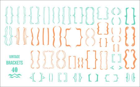 bracket  set design hand drawn vector illustration