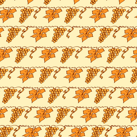 Grapes Lattice Seamless Pattern In Floral Style Reminiscent