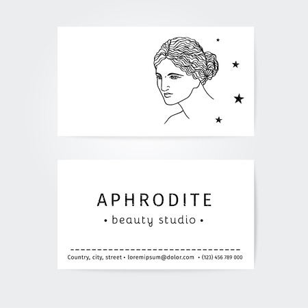 beauty surgery: vector collection of business cards for beauty salon, hairdressers or plastic surgery Illustration