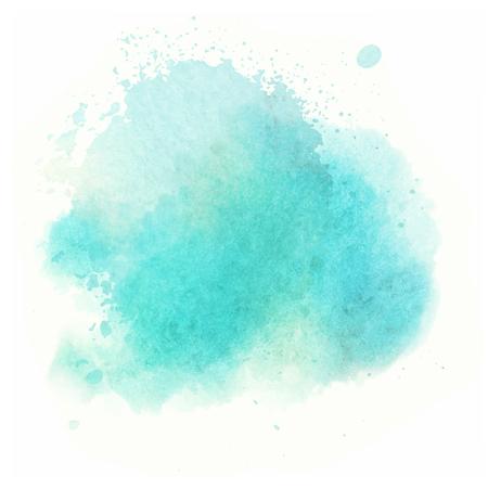 水の色の背景を描いた青い水彩画スプラッシュ ベクトル 写真素材 - 87626822