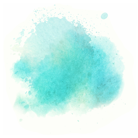 blue watercolor splash vector painted water color background Ilustração