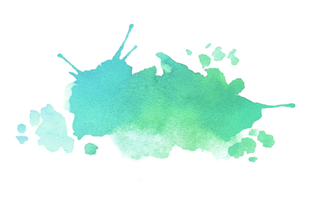 水の色の背景を描いた青い緑水彩スプラッシュ ベクトル