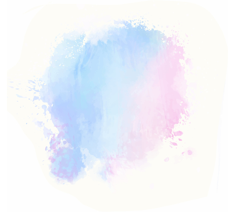 pink blue watercolor splash vector painted water color background