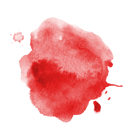 Blood splatter painted vector isolated on white for halloween design Red dripping blood drop watercolor