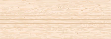 Light wood textured vector background. Backdrop with copyspace. Natural hardwood texture. Veneer wooden panels, teak planks realistic illustration with text space. Horizontal wallpaper, banner design Ilustrace