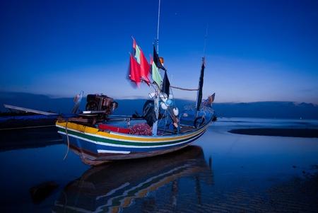 koh: barco twilight Foto de archivo
