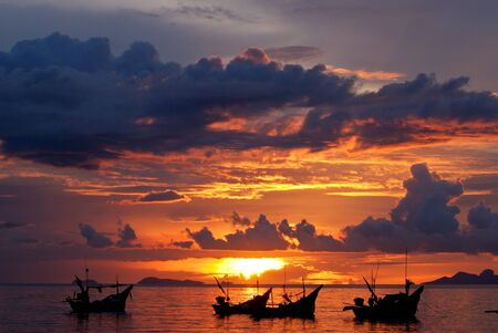 beach sunset Stock Photo - 8749740