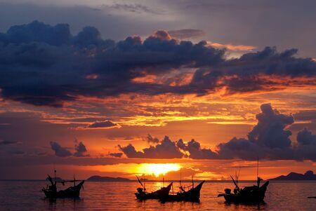koh: beach sunset Stock Photo