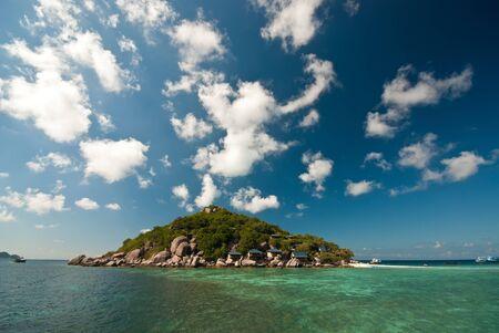 nangyuan: nangyuan island blue sky clear water Stock Photo