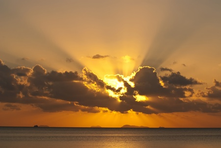 very nice sunray on the sea Stock Photo - 8769597