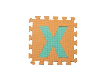 Letter x  tile isolated white background for children photo